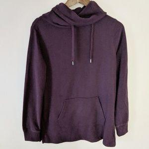 GAP Dark Purple Cowl Neck Pullover Hoodie Small